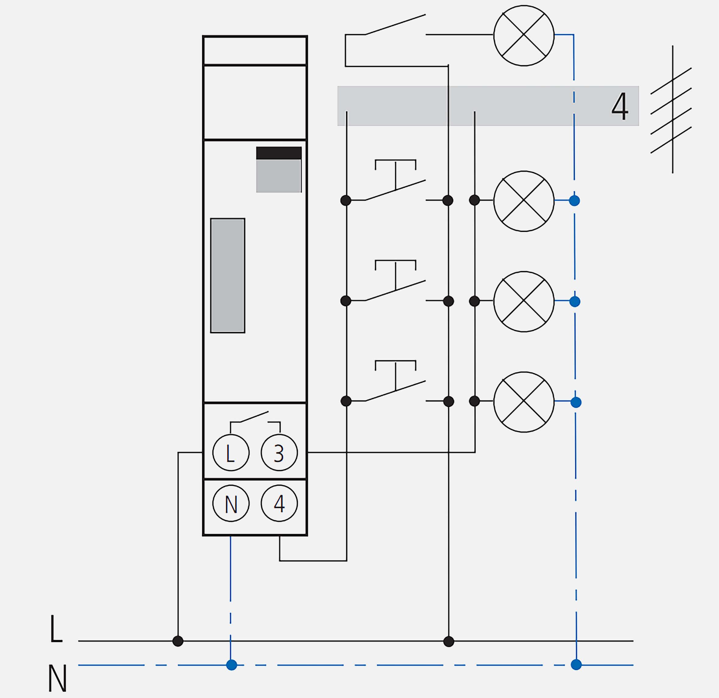 schema de cablage 4 fils minuterie elpa 8
